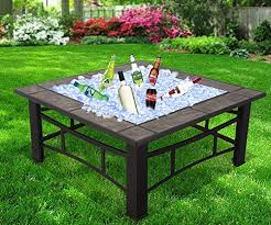 Firepit Bbq Raygar Fp44 Multifunctional 3 In 1 Outdoor Garden Square Pit