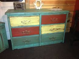 6 drawer dresser beautifully distressed multi colored drawers