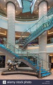 Ship Chandelier Central Atrium With Colour Changing Chandelier And Glass Staircase