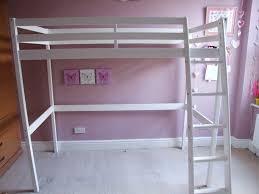 White High Sleeper Bed Frame Child S Single Bed Frame Wooden White High Sleeper Space Saver