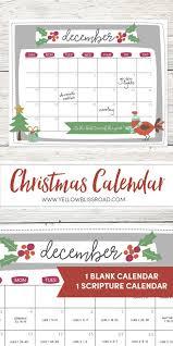 christmas calendar free printable christmas countdown calendar for december 2 versions