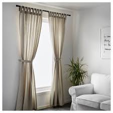 Tie Top Curtains Cotton by Lenda Curtains With Tie Backs 1 Pair 55x118