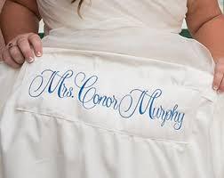 mrs date large bridal wedding dress label tag custom