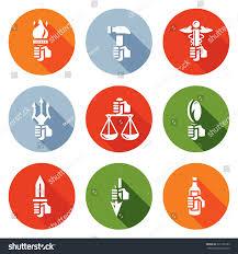 symbols gods greek mythology icons set stock vector 325163183