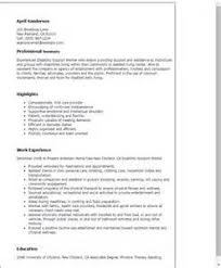 example of disability support worker resume resume ixiplay free