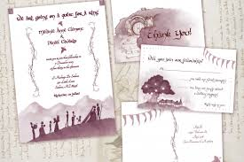 wedding invitation set lord of the rings wedding fellowship invitation set awkward