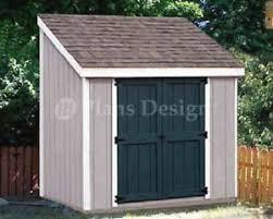 4 u0027 x 8 u0027 storage utility lean to shed building plans design