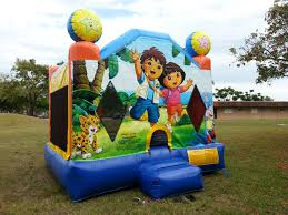 halloween bounce house rentals dora u0026 diego bounce house rental in miami