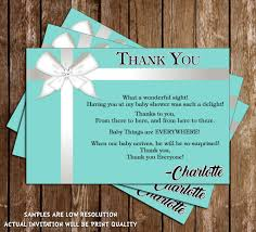 novel concept designs tiffany u0026 co baby shower thank you cards