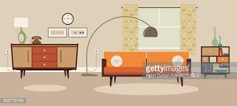 bohemian living room vector art getty images