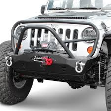 jeep front grill guard jcroffroad jeep wrangler 2007 2017 mauler deluxe stubby front