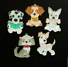 buy dog 2018 and the book a set of christmas ornaments on