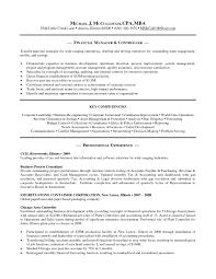 Accountant Resume Sample Canada Sample Resume Cpa
