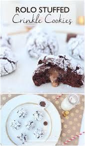 rolo stuffed crinkle cookies