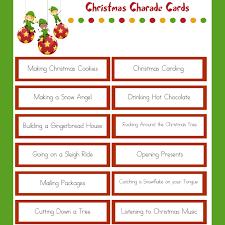 christmas charades family christmas party game