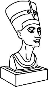 ancient egypt coloring page statue nefertiti ancient egyptian coloring page wecoloringpage