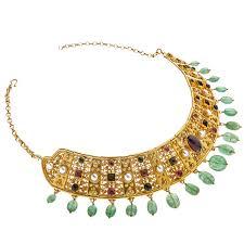 multi stone necklace images Designer 18k solid gold multi stone byzantine collar necklace jpg