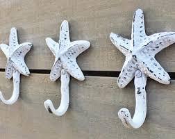 starfish towel starfish towel hook etsy