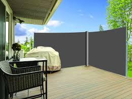 rideau de terrasse d angle gris anthracite 1 60x3m x2 cloture