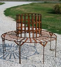 Wrought Iron Garden Decor Outdoor Wrought Iron Tree Park Bench Outdoor Seating Wrought