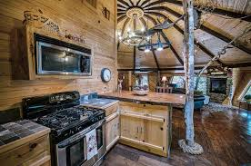 Knotty Pine Kitchen Cabinet Doors Rustic Kitchen With High Ceiling Wood Counters Zillow Digs