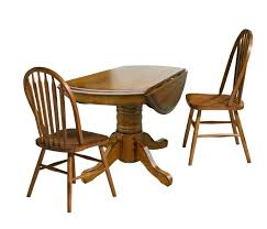 Drop Leaf Pedestal Dining Table Three Piece Drop Leaf Table And Chair Dining Set By Intercon