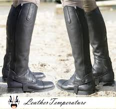 best mens biker boots aliexpress com buy soldier best quality leather half chaps