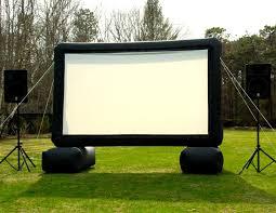 backyard movie screen rentals home outdoor decoration