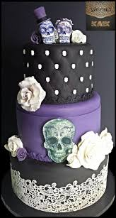 black wedding cake till death do us part cake cake by ann