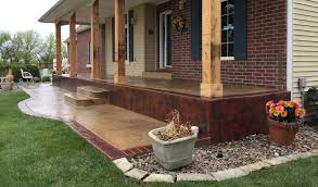 Photos Of Concrete Patios by Patio Designs Pool Remodeling Wichita Stamped Concrete Dirt
