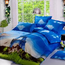 3d bed coverlets best eiffel tower cotton bed linen uk quality bed sheets sets double pillowcases