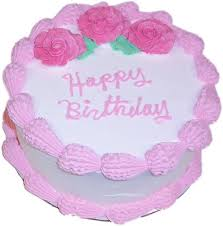 pink birthday cake 9 inch with