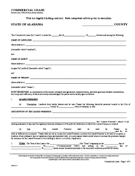 alabama commercial lease agreement template free download