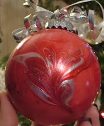 marble christmas ornaments u2013 with nail polish a sparkly life for me