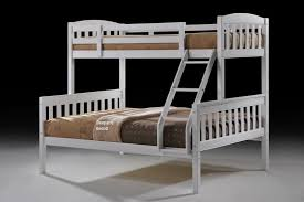 Cola White Wooden Triple Sleeper With Two Storage Drawers Free - Three sleeper bunk bed
