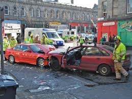 three cars involved in collision in leith the edinburgh reporter