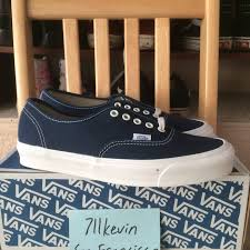vans vans vault og authentic lx navy dress blue size 9 5 low top