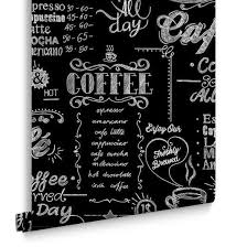 coffee shop black and white wallpaper from the modern living
