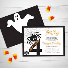 spooky halloween birthday invitation
