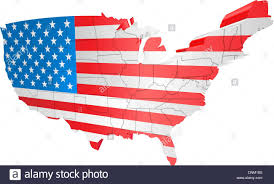 The Map Of The Usa by Illustration Of The American Flag As The Map Of The Usa Stock
