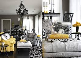 Grey Yellow And Black Bedroom by Zebra Room Décor Ideas Black Couches Modern Living Rooms And