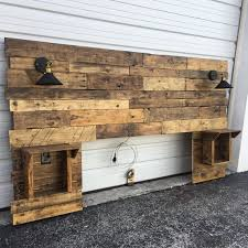 rustic headboard designs with regard to wood for bedroom home