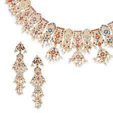jewelry necklace pearl set images Amritsari pearls bridal jewelry set raj jewels jpg
