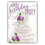 100th Birthday Card 100th Birthday Invitations Paperstyle
