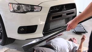 mitsubishi lancer evolution 2014 installing jdp carbon fiber lip evo x 2014 mitsubishi lancer