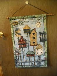 Hanging Wall Decor by Hanging Wall Decor Birdhouse Tapestry With Wooden Dowel Blb1