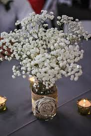 baby breath centerpieces rustic baby s breath centerpiece