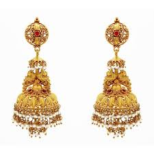 earrings in grt earrings antique style jhumkas with pearl grt jewellers