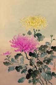 Japanese Flower Artwork - chrysanthemum botanical u0026 zoological bounty