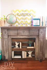 Wood Mantel Shelf Diy by Primitive Antique Repurposed Fireplace Mantel Shelf Bookcase